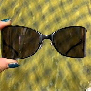 Michael kors black tint visors shield sunglasses
